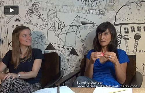 Liv Dali og Buthaina Shaheen fra Det Syriske Kulturinstitut i Danmark